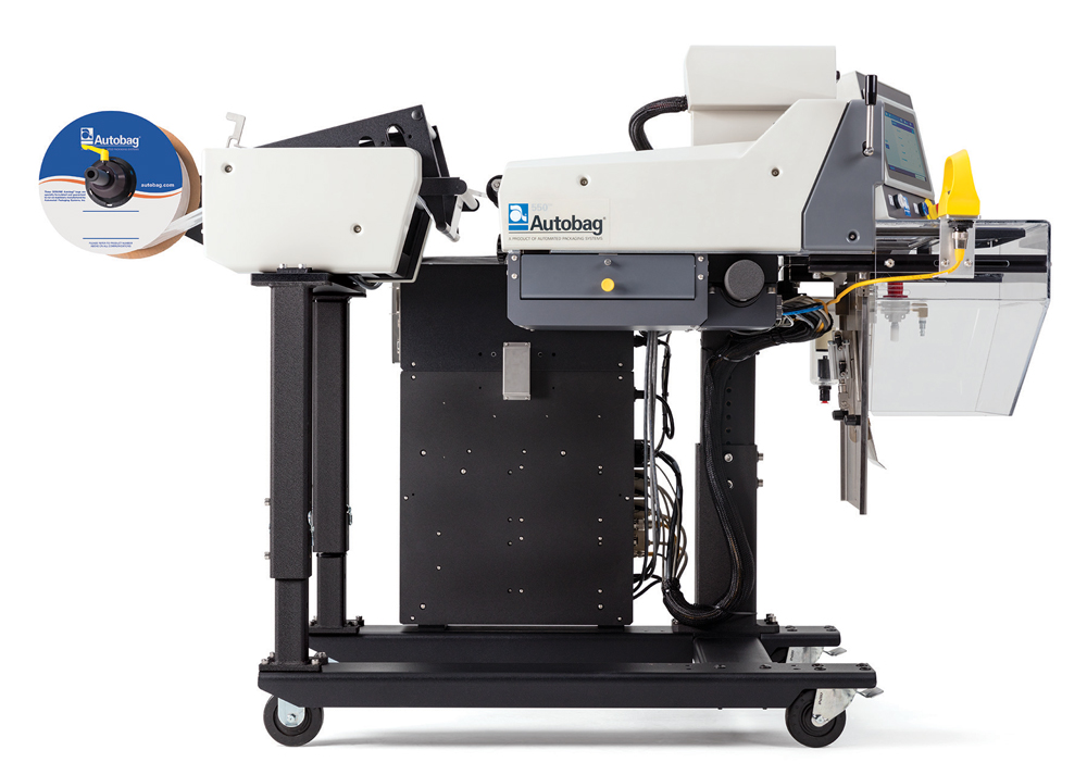 Autobag 550 Bagging System right side raised unwind