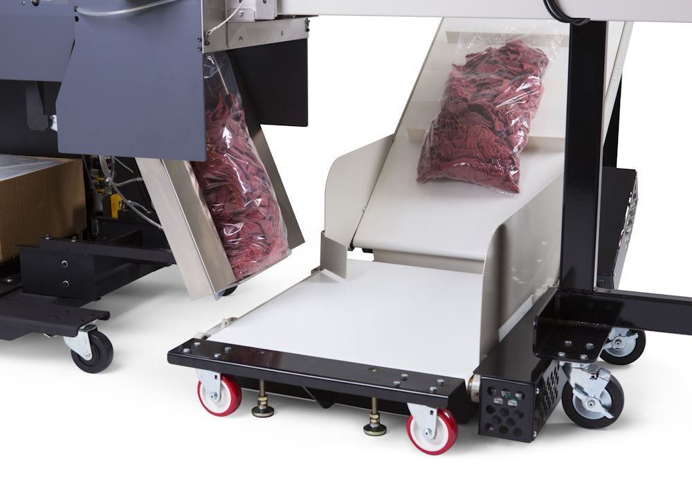 Autobag Ergocon Textile Packaging System descarga de ensacado
